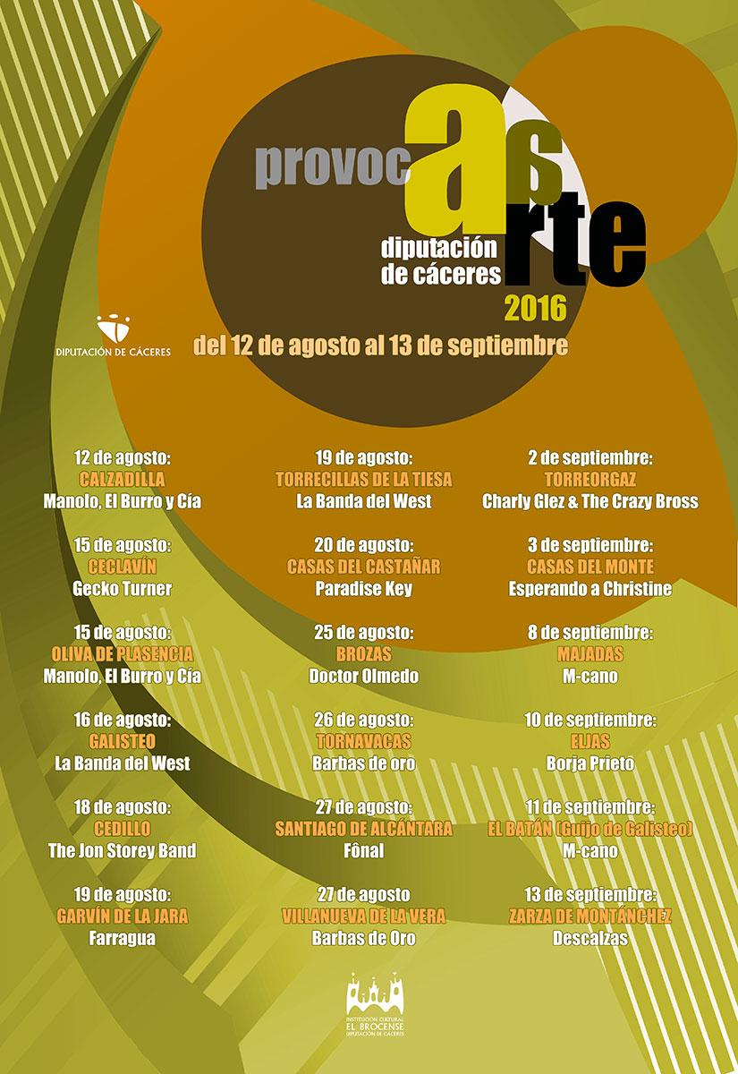 Cartel Provocarte 2016 Cáceres